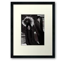 Black Figures Framed Print