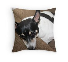 Sir Rowdy Dog of Garrett Throw Pillow