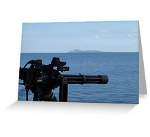 Mini gun  island  Greeting Card