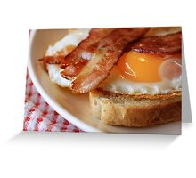 Egg&bacon Greeting Card