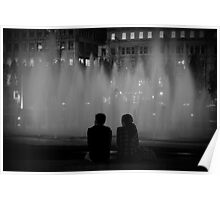 Couple in Picadilly Gardens Poster