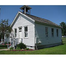 A One Room School house Photographic Print