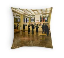 OPEN (my exhibition today) Throw Pillow