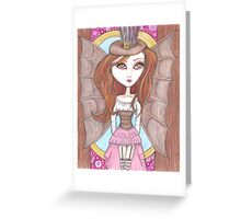 steampunk fantasy big eyes faerie art Greeting Card