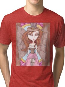 steampunk fantasy big eyes faerie art Tri-blend T-Shirt