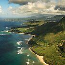 Kauai from the air by Rachael Talibart
