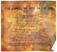 The things we lost in the fire  Poster