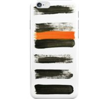 orange stripes iPhone Case/Skin