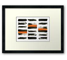 orange stripes Framed Print
