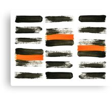 orange stripes Canvas Print