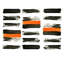 orange stripes Photographic Print
