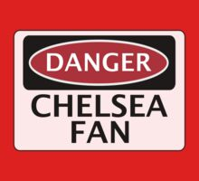 DANGER CHELSEA FAN, FOOTBALL FUNNY FAKE SAFETY SIGN One Piece - Short Sleeve