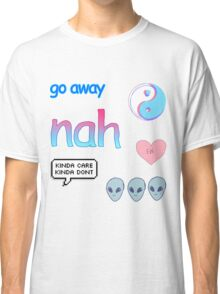 Blue & Pink Themed Tumblr Stickers Classic T-Shirt
