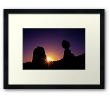 Balanced Rock Sunstar Framed Print
