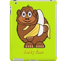 Party Time Chimp and Banana design iPad Case/Skin
