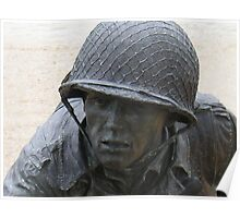 Statue of a Soldier at the WWII Memorial - Invasion of Normandy Poster