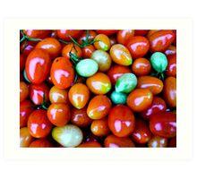 Thinking Summer Tomatoes Art Print