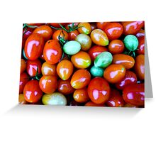 Thinking Summer Tomatoes Greeting Card
