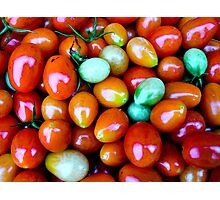 Thinking Summer Tomatoes Photographic Print