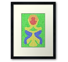 Modern abstract multicolored pattern Framed Print