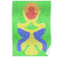 Modern abstract multicolored pattern Poster