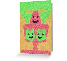 abstract three face pattern Greeting Card