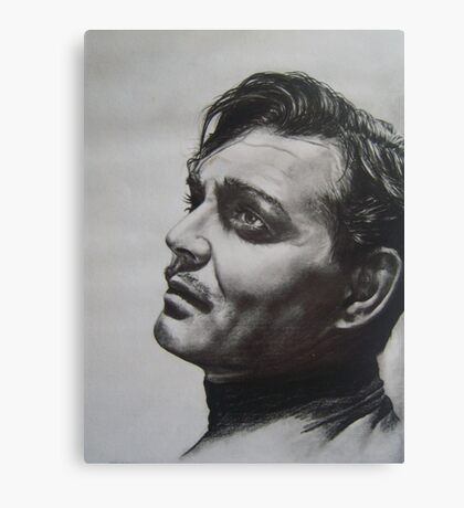 CLARK GABLE..PENCIL ON PAPER Canvas Print