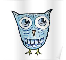 Cute blue owl Poster