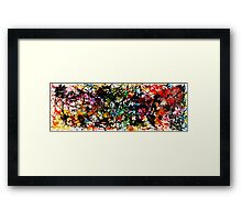 Rainbow Splatter Framed Print