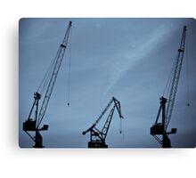 obsolete cranes Canvas Print