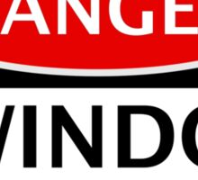 DANGER SWINDON TOWN, SWINDON FAN, FOOTBALL FUNNY FAKE SAFETY SIGN Sticker