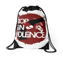 STOP gun violence Drawstring Bag