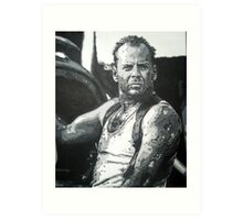 Bruce willis in die hard iconic piece by artist Debbie Boyle - db artstudio Art Print