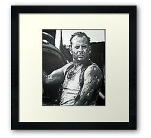 Bruce willis in die hard iconic piece by artist Debbie Boyle - db artstudio Framed Print