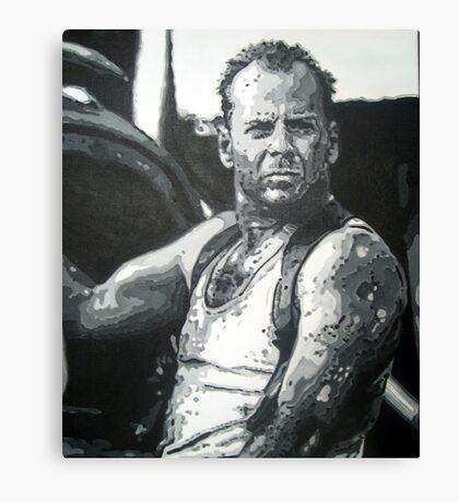 Bruce willis in die hard iconic piece by artist Debbie Boyle - db artstudio Canvas Print
