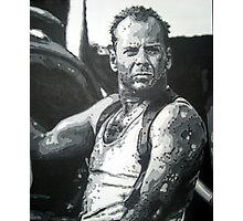 Bruce willis in die hard iconic piece by artist Debbie Boyle - db artstudio Photographic Print