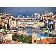 Bridges on Arno Photographic Print