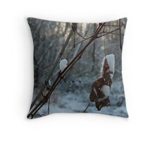 First snow of the year Throw Pillow