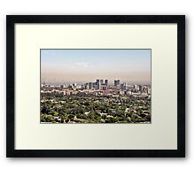 Los Angeles, California - Glitter and Trouble Framed Print