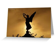 Angel Silhouette Greeting Card