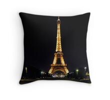 The Eiffel Tower at Night Throw Pillow