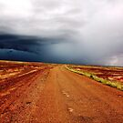 Contrasts- storm approaching Bedourie by Blackie