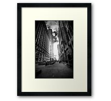 The Street of Flags Framed Print