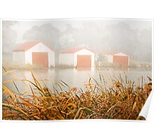 """Morning Boat Sheds"",Anglesea,Great Ocean Road,Australia. Poster"
