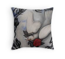 """""""My Love is Like a Red, Red Rose"""" Throw Pillow"""