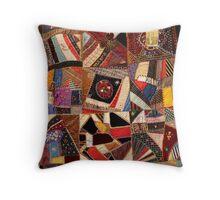Crazy Quilt #3 Throw Pillow