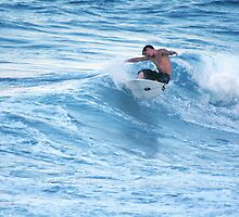 Surfing at Sunset-Snapper Rocks, Australia by SouthernCross