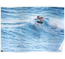 Surfing at Sunset-Snapper Rocks, Australia Poster