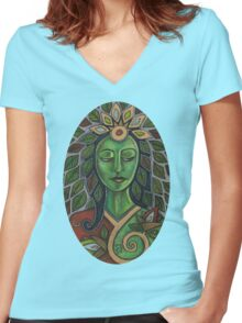 Gaia Tee Women's Fitted V-Neck T-Shirt