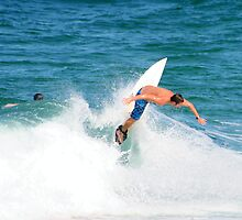Surfing at Duranbah Beach by SouthernCross